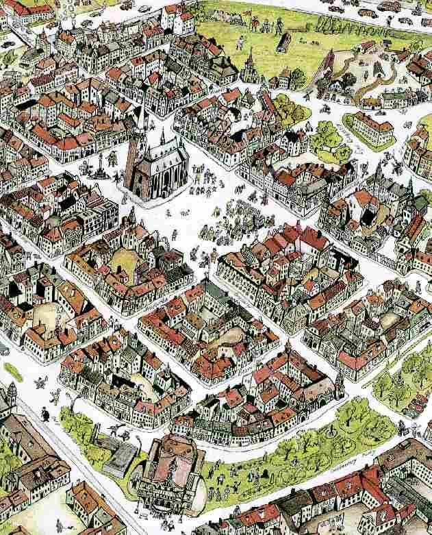 Mapa Historickeho Stredu Mesta Plzne